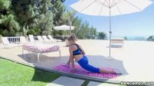 Mia Malkova - Pornstar Does Yoga Before Bouncing Her Big Butt On Cock