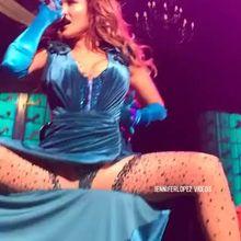 Jennifer Lopez with her legs wide open