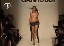 Topless on runway