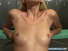 Too pretty for porn cutie gets cum glazed