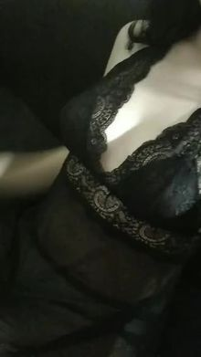 My boobs in a black lace <3