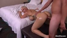 Thick Milf getting pounded from behind