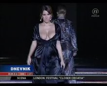 On the runway