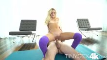 Tiny teen Naomi Woods riding a big dick