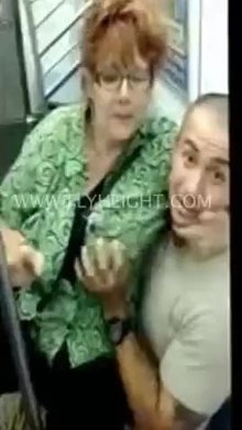 Granny Gone Wild on the City Subway!
