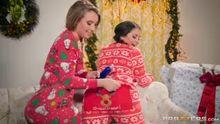 Harley Jade and Allie Haze unwrap a great present
