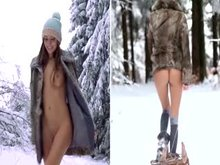 Russian womans can handle the cold