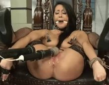 Sabrina Banks bound and forced to squirt