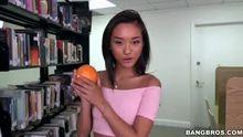 Alina Li getting her vitamins C & D