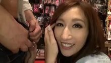 Julia getting fucked in the sex shop
