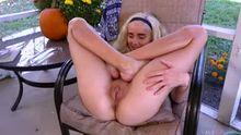 Naomi Woods shows her flexibility