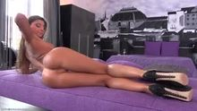 Melena handles her juicy peach  NSFW_GIF)