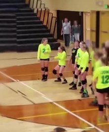 Volleyball Baby Dancing and Making Fun With The Opponents