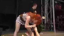 Shirley Manson simulating sex with a doll during Glastonbury festival