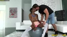 Jezabel Vessir works out on thick white cock