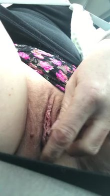 Upskirt in the car gone extra wild today [F31]