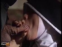 Nun taking fat veiny Communion