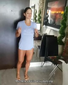 Michelle Lewin's hot dance moves