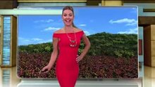 Ximena Cordoba's happy dance before her forecast