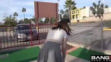 Upskirt at the mini golf course