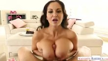 Engulfed in Ava Addams' massive boobs
