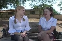 Madison Sins & Tabitha Blue - School Bus Womans