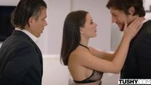 Lana Rhoades First DP Scene