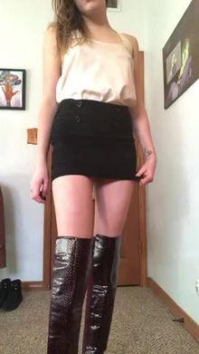 a peek under my work skirt