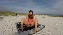 Mya Lennon enjoying the beach