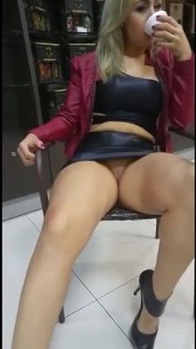 Wearing a Leather outfit in the mall