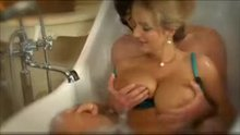 Big blonde breasts in the bath II