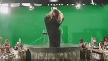 Jessica Alba behind the scenes striptease in Sin City