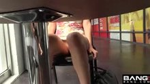 Audrey Royal spreads her pussy in public