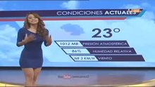Sexy weather woman