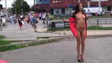 Naked At A Busy Crosswalk