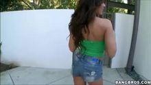 Capri Cavalli wiggles while she walks