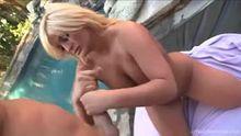 Julie Cash gets cum on her precious boobs