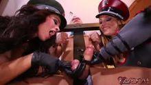 2 Mistresses Handjob