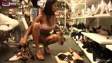 Upskirt in Shoe Shop