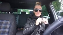 Driving in leather jacket!