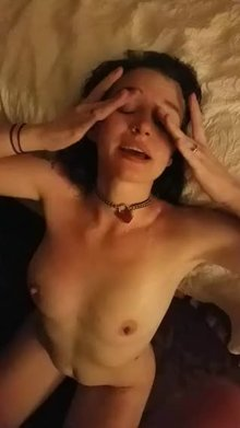 He didn't get his camera out in time for the cumshot but he did get my happy reaction to 2 guys cumming on my (f)ace.