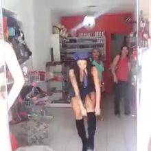 Fresh out the lingerie shop