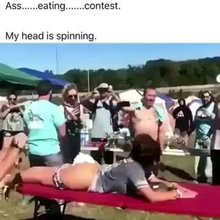 Butt Eating Contest